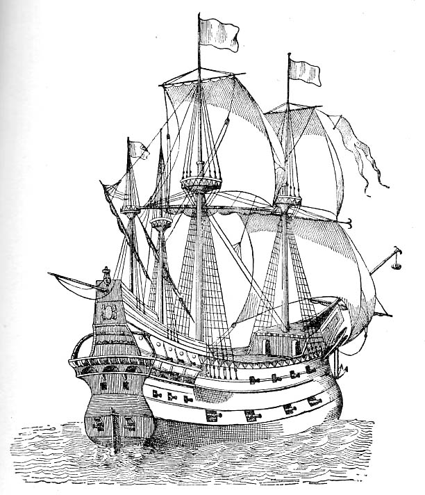 Galleon of the 15th century