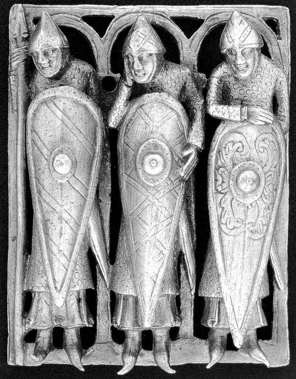 three Knighst asleep by Jesus grave from 1100 AD