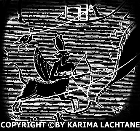 Ancient Egyptian Sagittarius from the time of Ptolemy