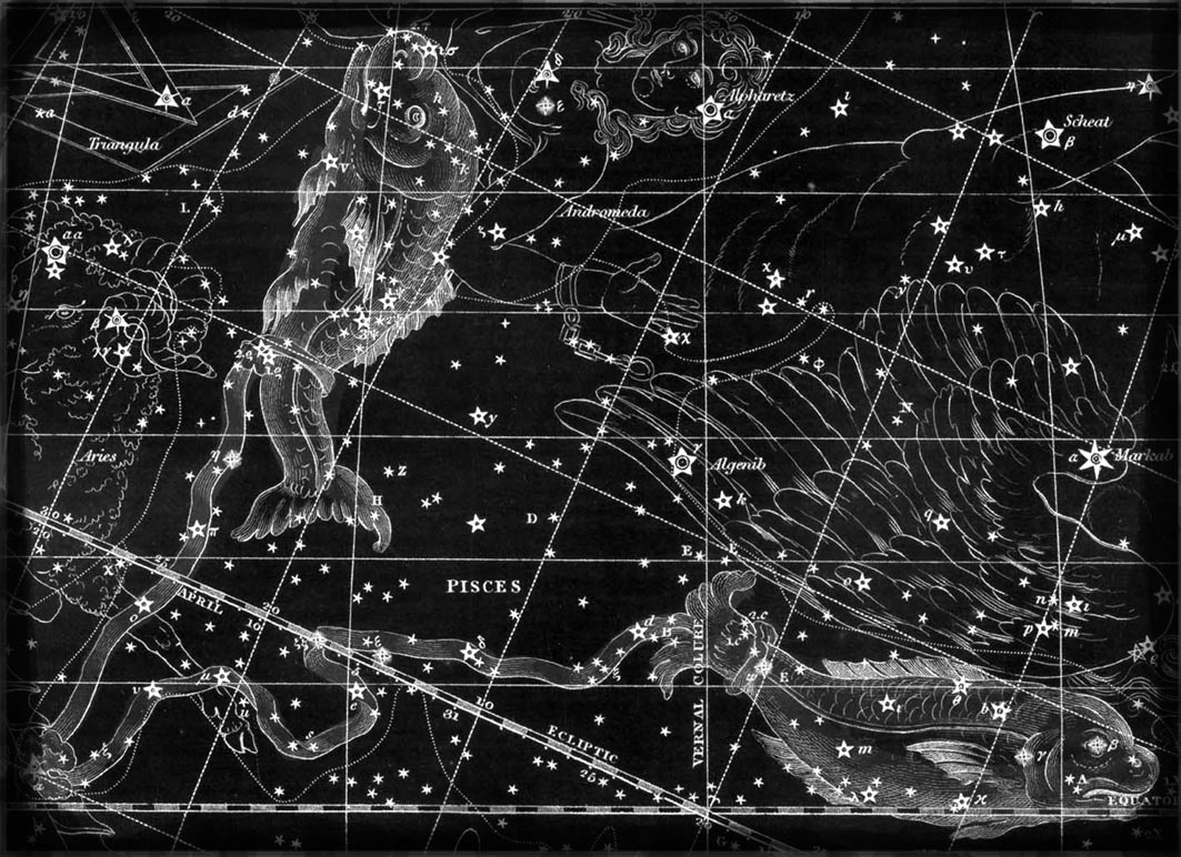 The constellation of Pisces